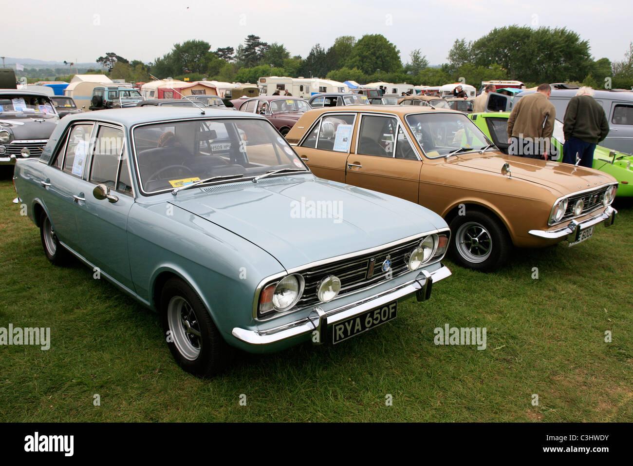 a vintage 1960s english ford cortina mk2 cars stock photo