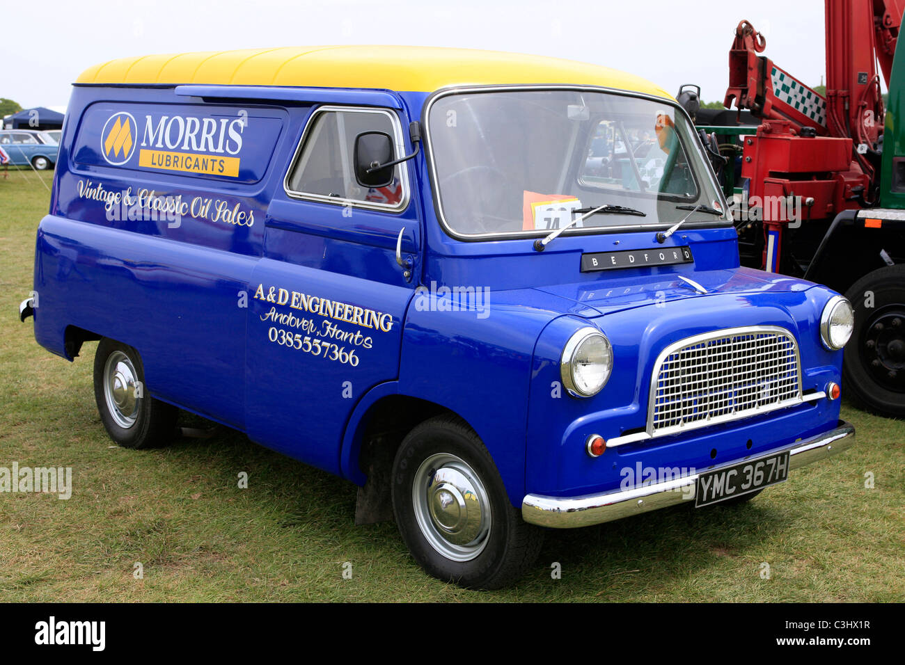 A Vintage 1960s English Bedford Van Stock Photo Royalty