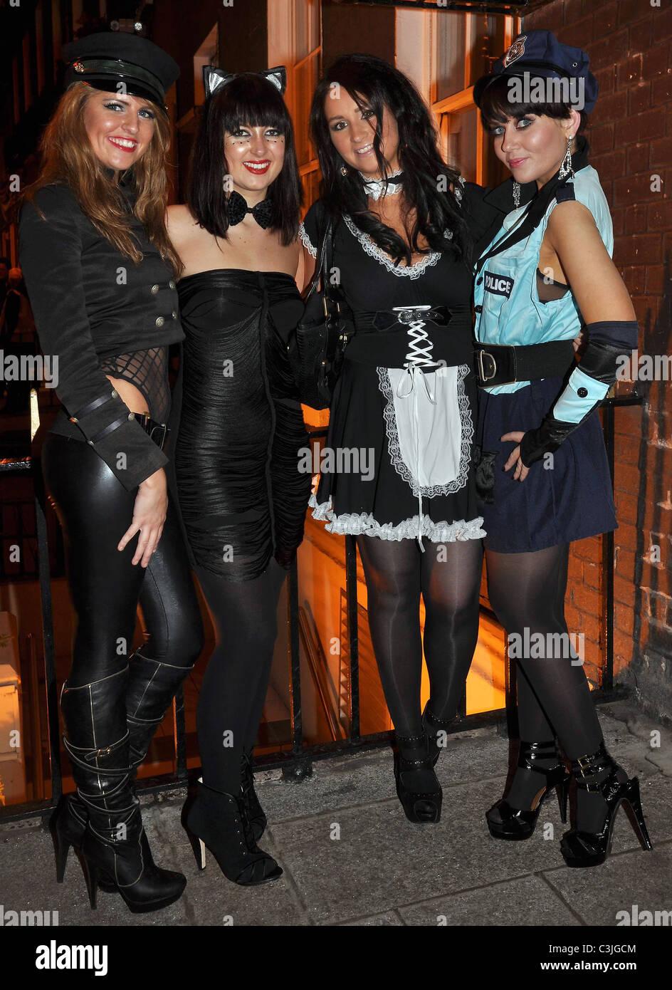 Hilary Fallon, Erica Leahy, Alina Bachlina, Sasha Coen arrives to ...