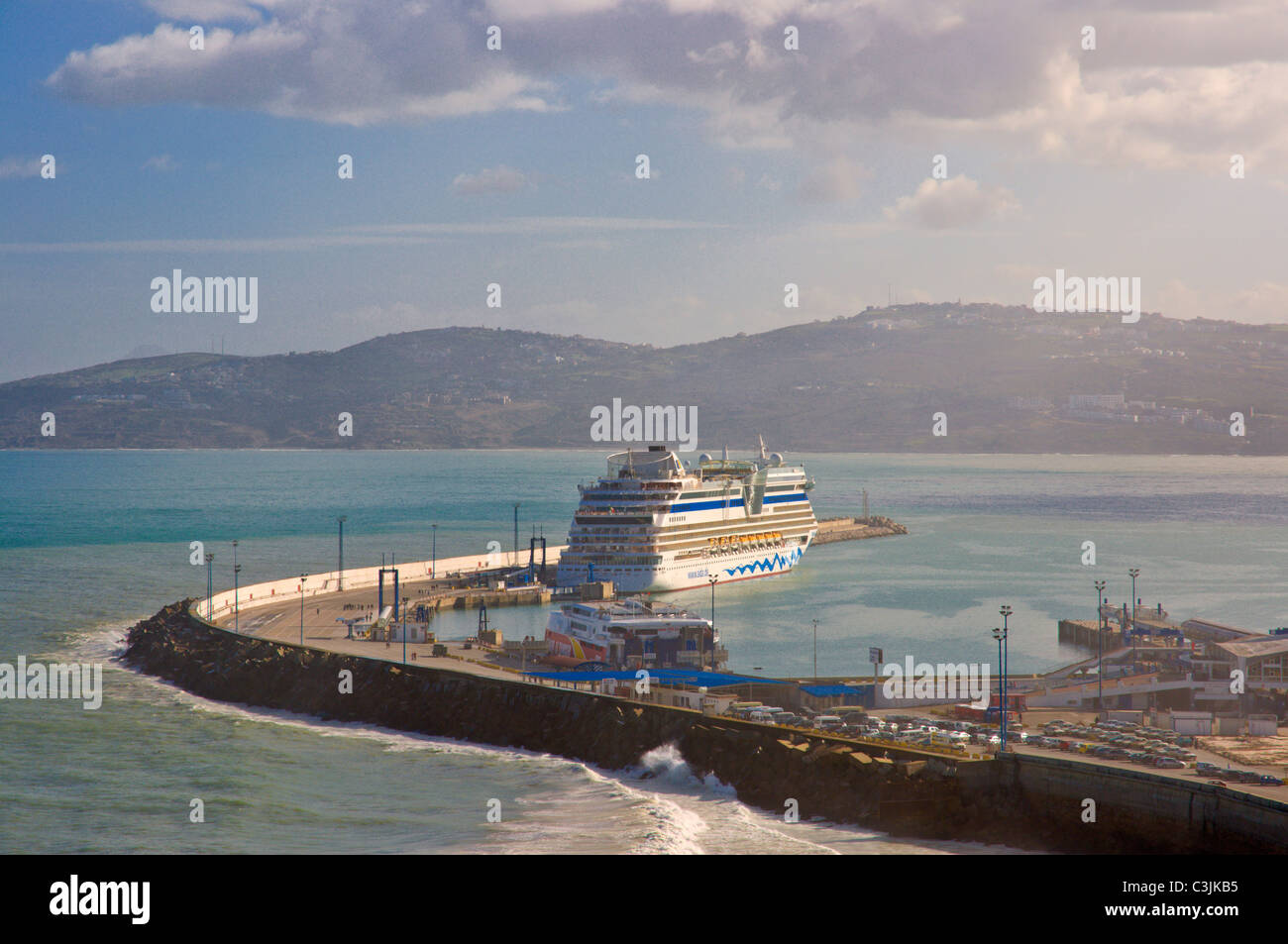 Tangier port and strait of gibraltar tangier morocco - Moroccan port on the strait of gibraltar ...