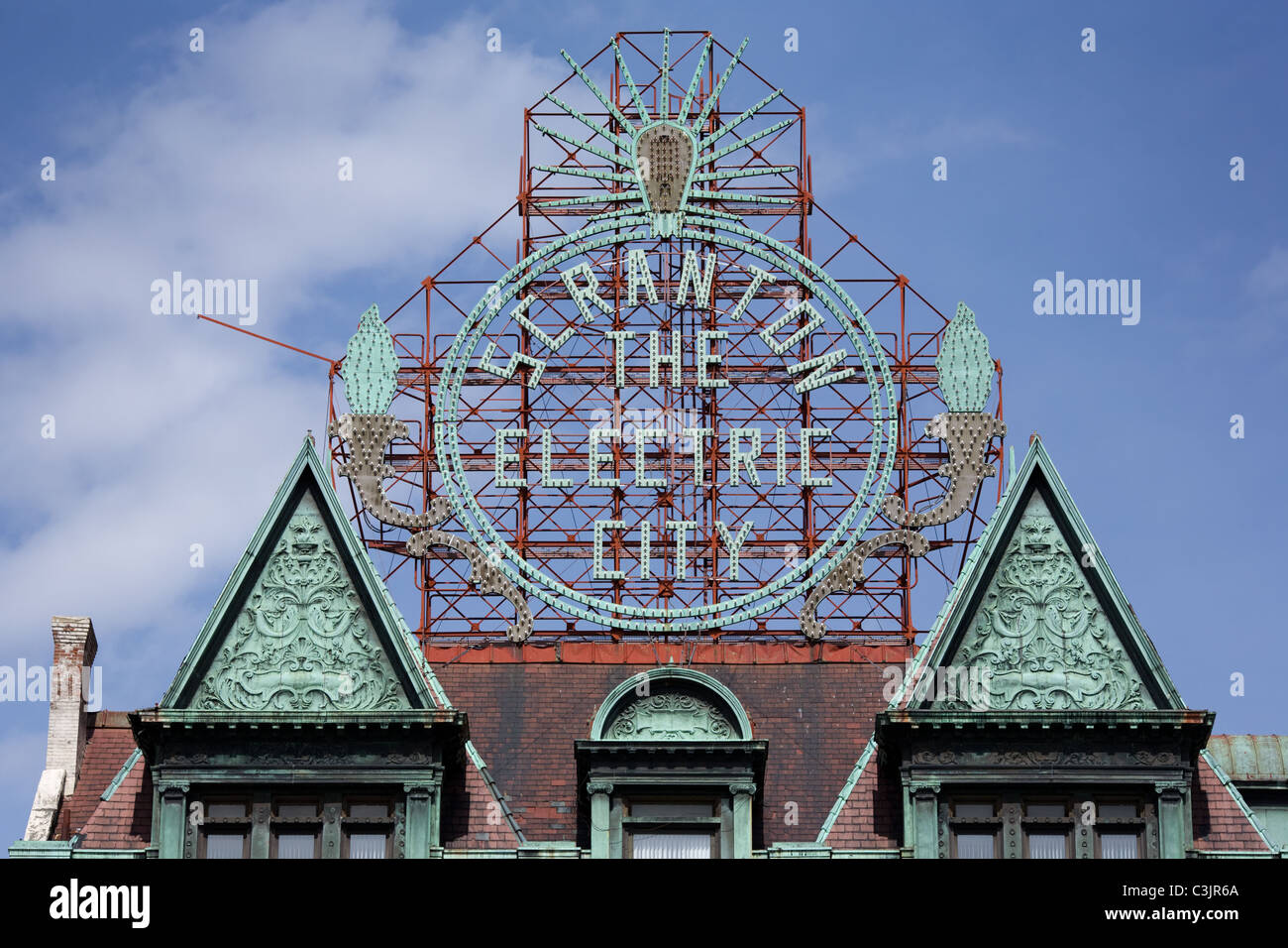 Historic electric city sign scranton pennsylvania