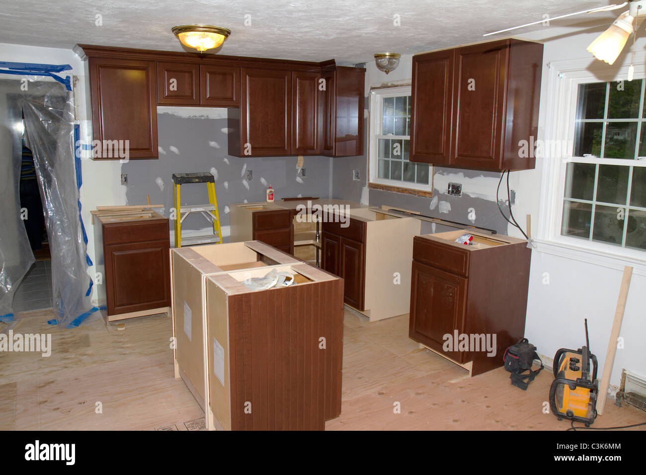 1960 39 s style american home kitchen during remodeling new for 1960 kitchen cabinets