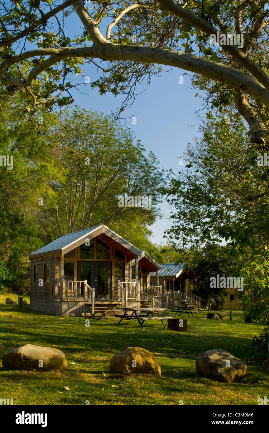 Gentil Rustic Cedar Cabins, El Capitan Canyon Resort, Near Santa Barbara,  California