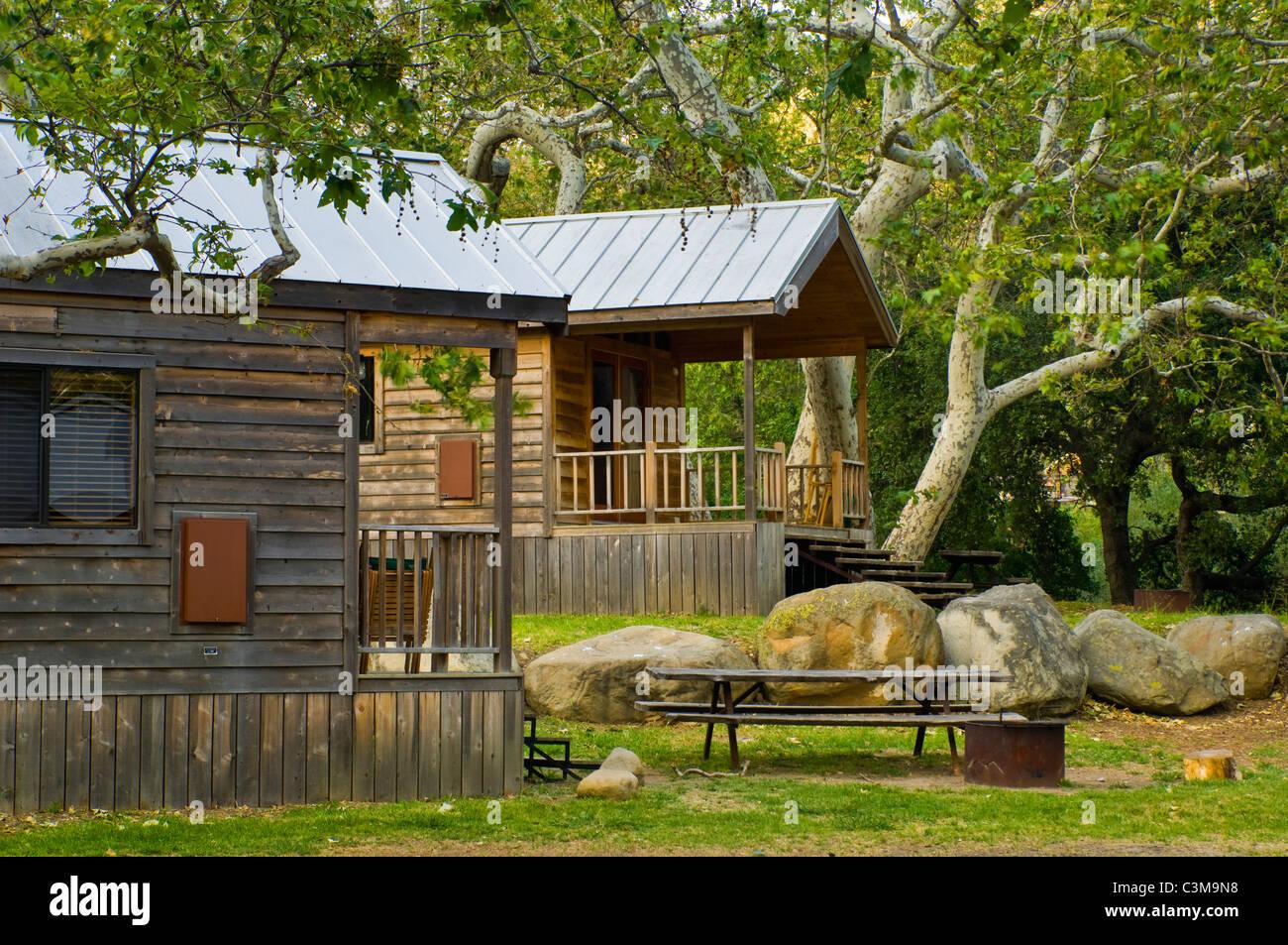 Superbe Rustic Cedar Cabins, El Capitan Canyon Resort, Near Santa Barbara,  California