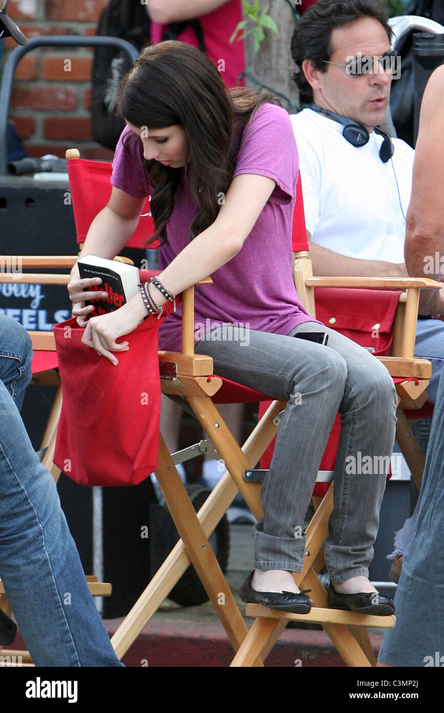 Emma Roberts On The Set Of Her New Movie U0027Valentineu0027s Dayu0027 Studio City,  California   11.09.09