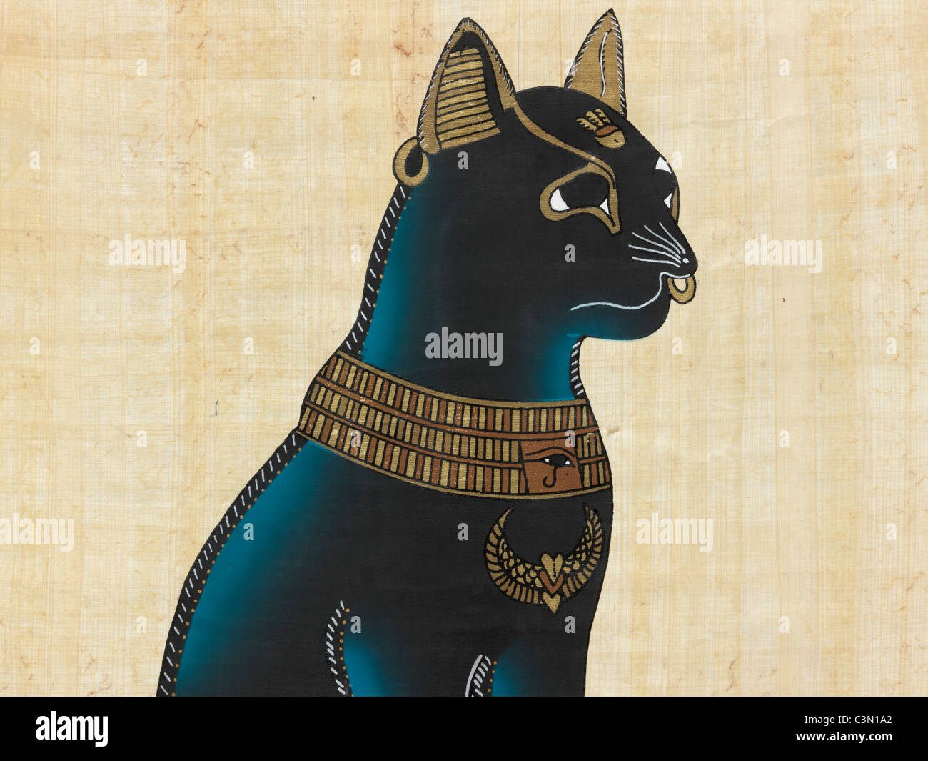 Egyptian Cat Goddess Stock Photos Egyptian Cat Goddess Stock