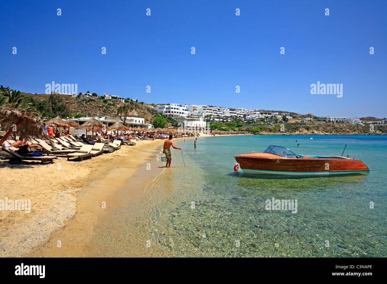 Best Island Beaches For Partying Mykonos St Barts: Super Paradise Beach Greek Cyclades Island Of Mykonos