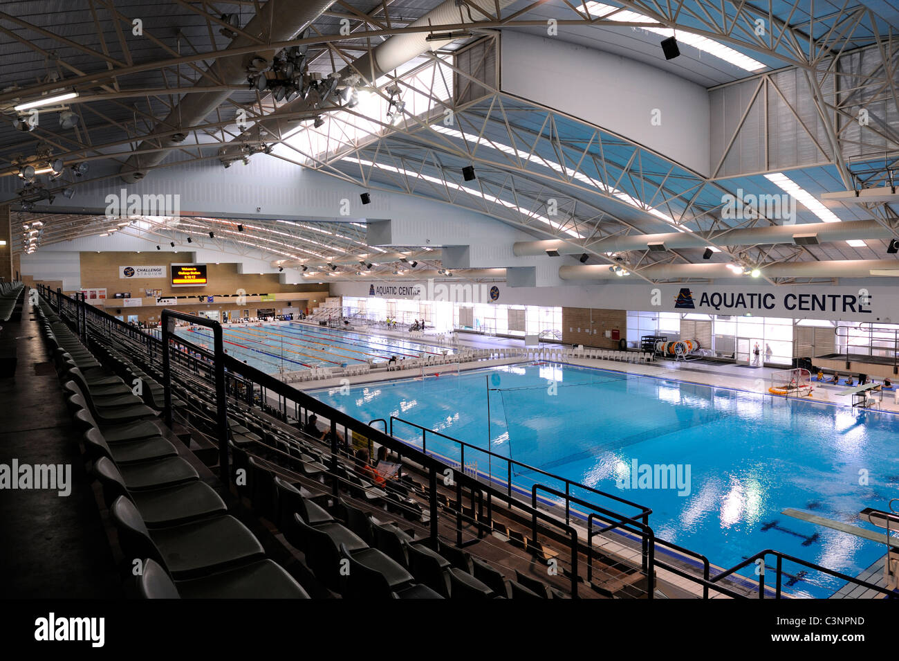 Interior Of Challenge Stadium Swimming Pool Perth Western Australia Stock Photo Royalty Free