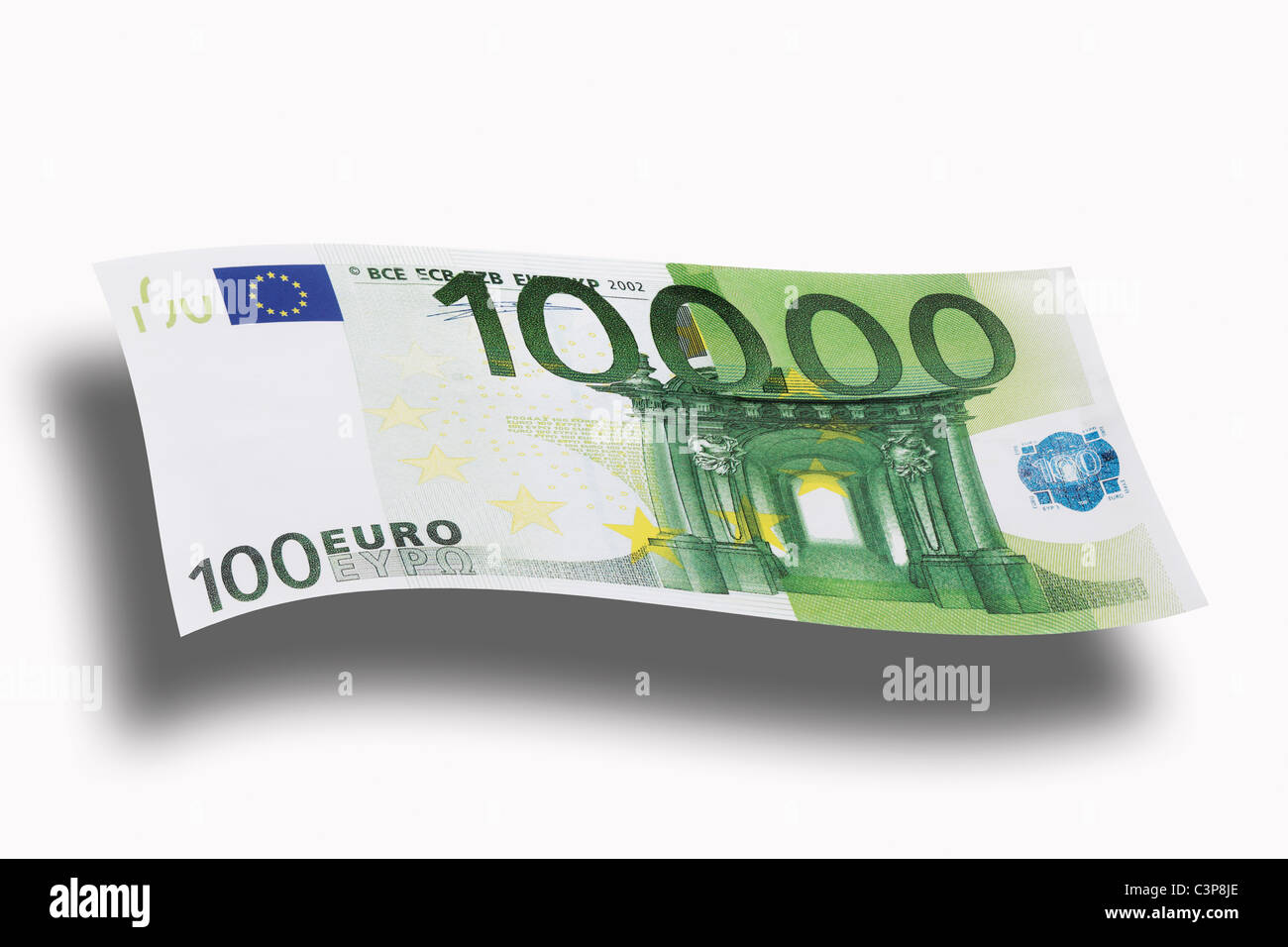 10000 euro note on ehite background close up stock photo royalty free image 36754438 alamy. Black Bedroom Furniture Sets. Home Design Ideas