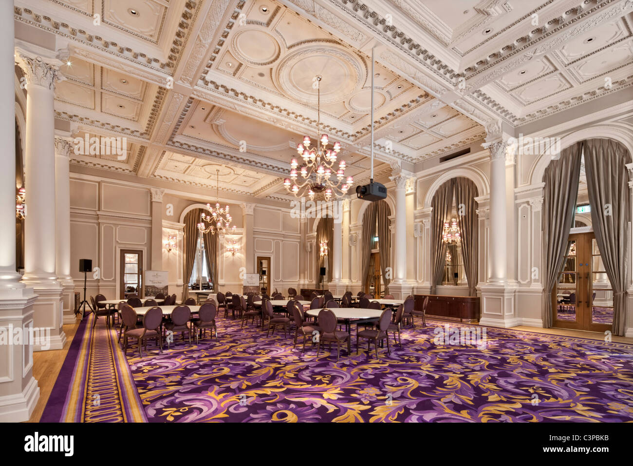 Ballroom with chandeliers stock photos ballroom with chandeliers the corinthia hotel in whitehall london opened in april 2011 stock image arubaitofo Choice Image