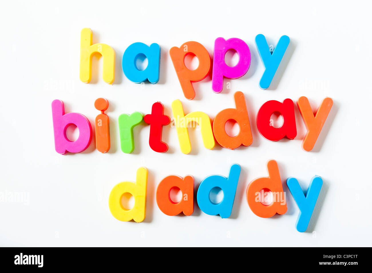 fridge magnets magnetic letters spelling out happy birthday daddy