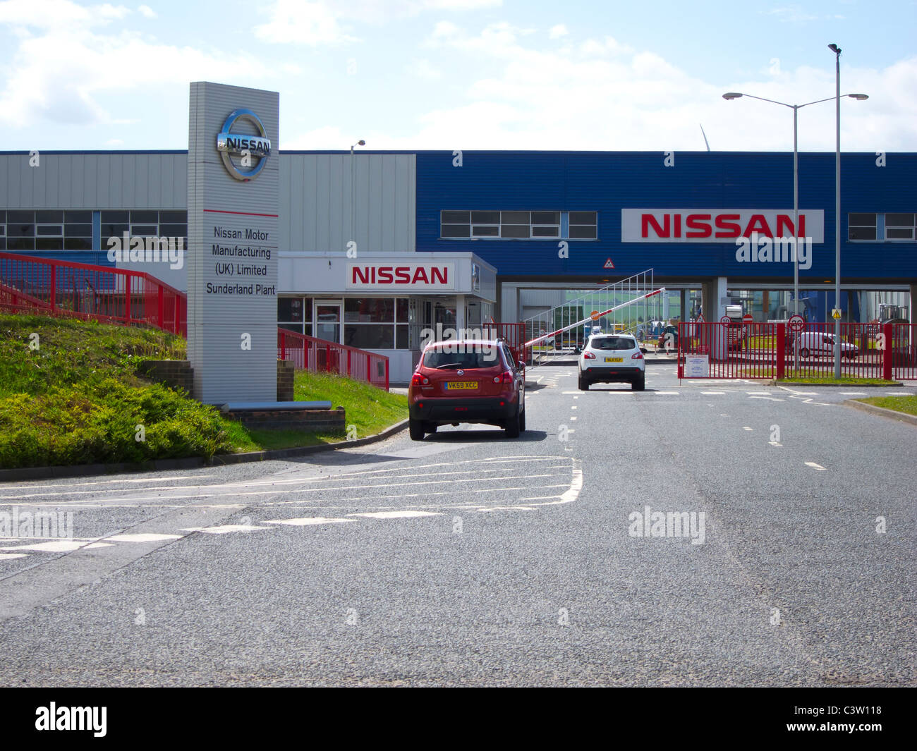 Nissan Motor Manufacturing Uk Ltd Stock Photo Royalty