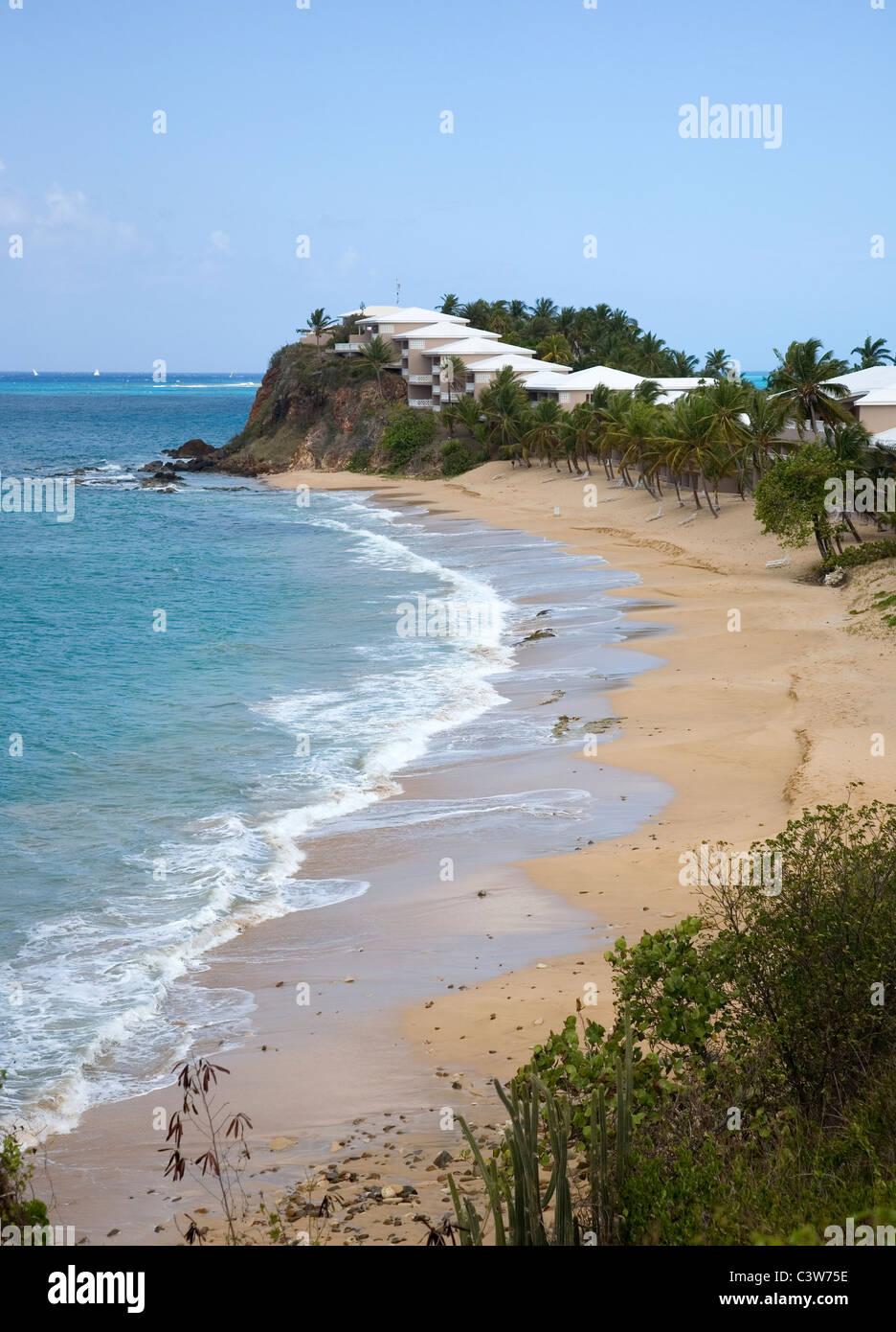 Curtain Bluff resort facing Carlisle Bay in Antigua Stock Photo ...