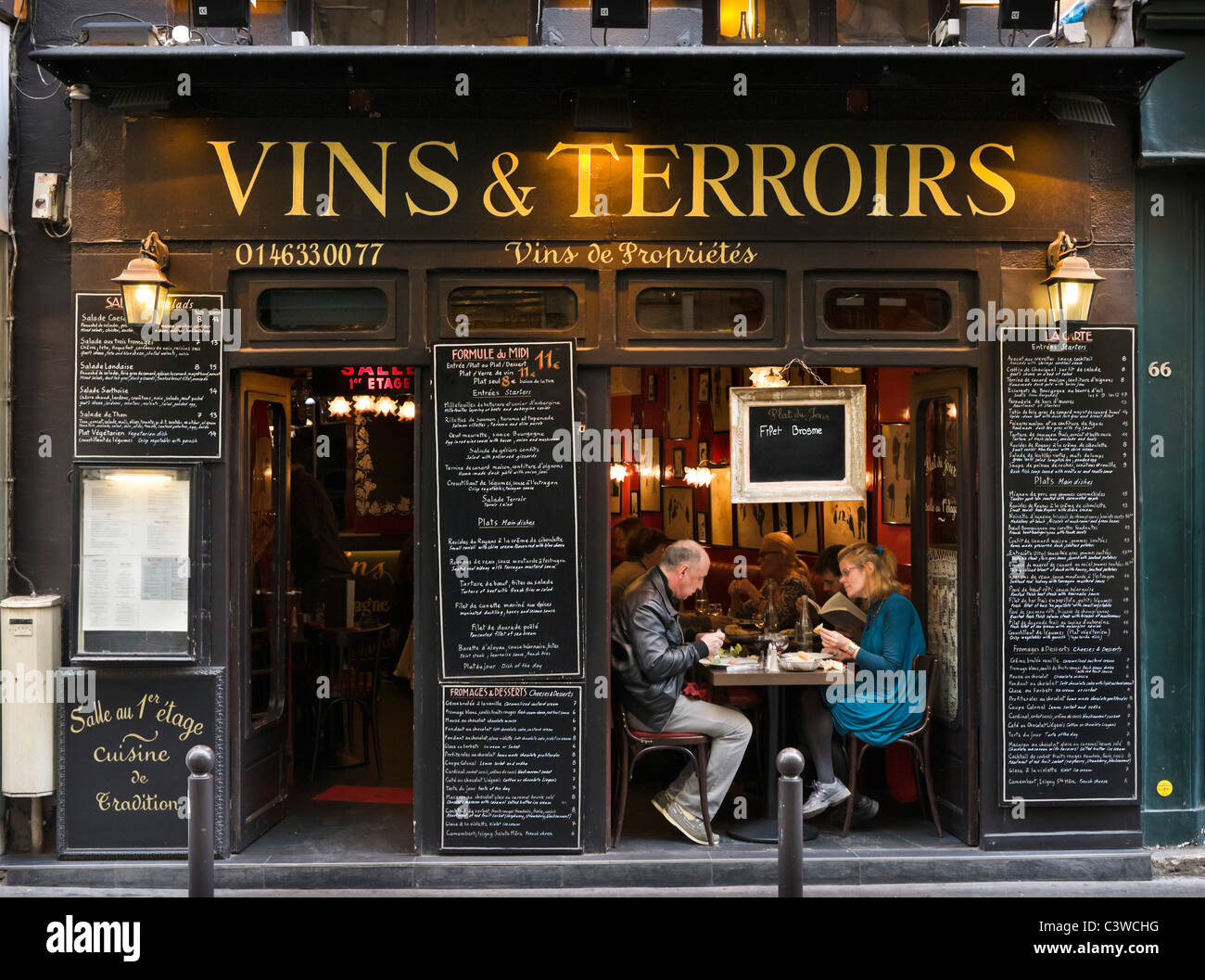 Traditional restaurant on Rue St Andre des Arts, Saint Germain ...