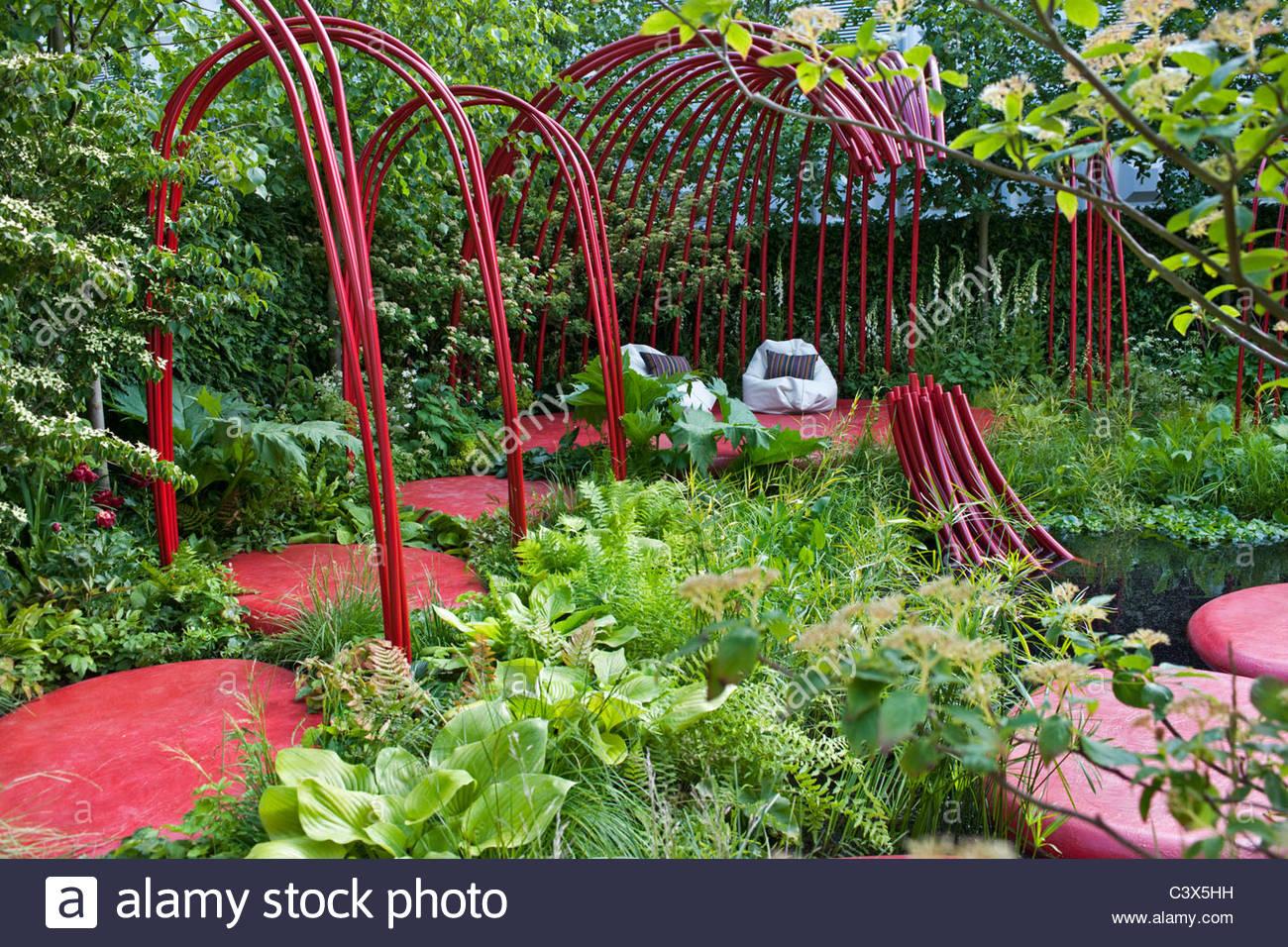 Superb British Heart Foundation Garden Designed By AnnMarie Powell Stock