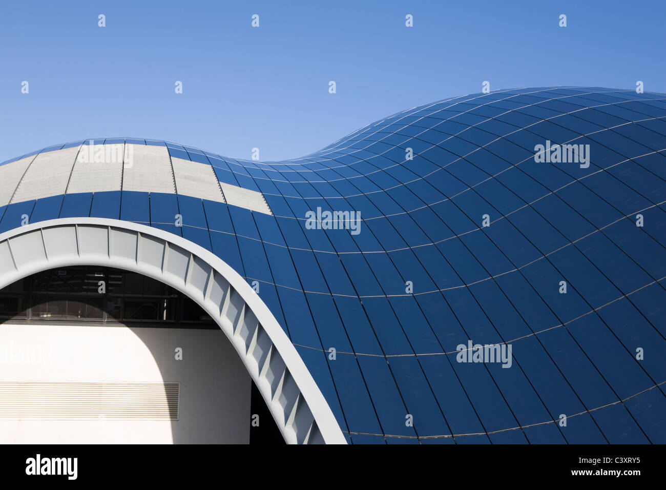 stock photo the glass roof of the sage gateshead built by norman foster