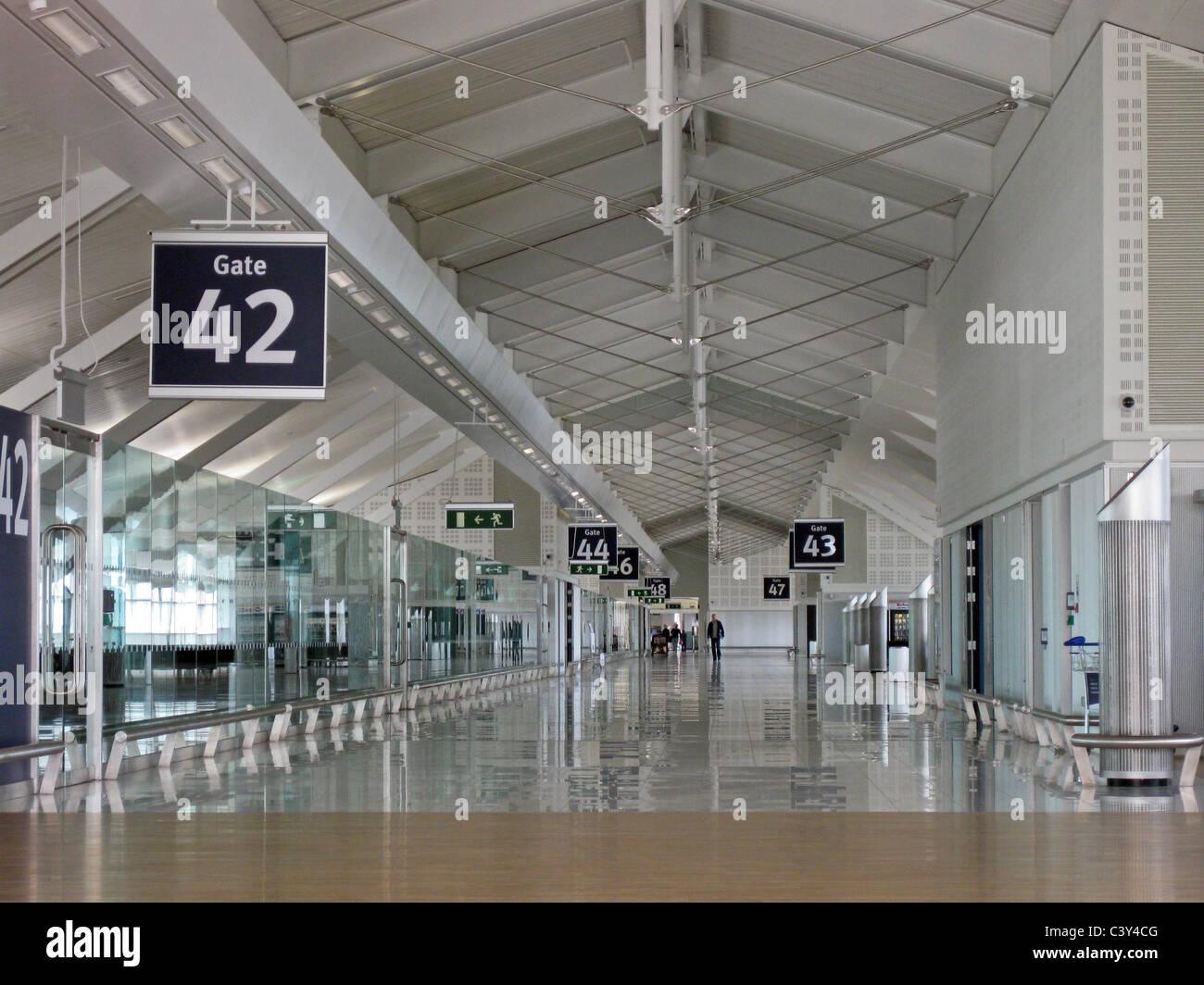 Gates Inside The International Pier Birmingham Airport Birmingham West Midlands Uk