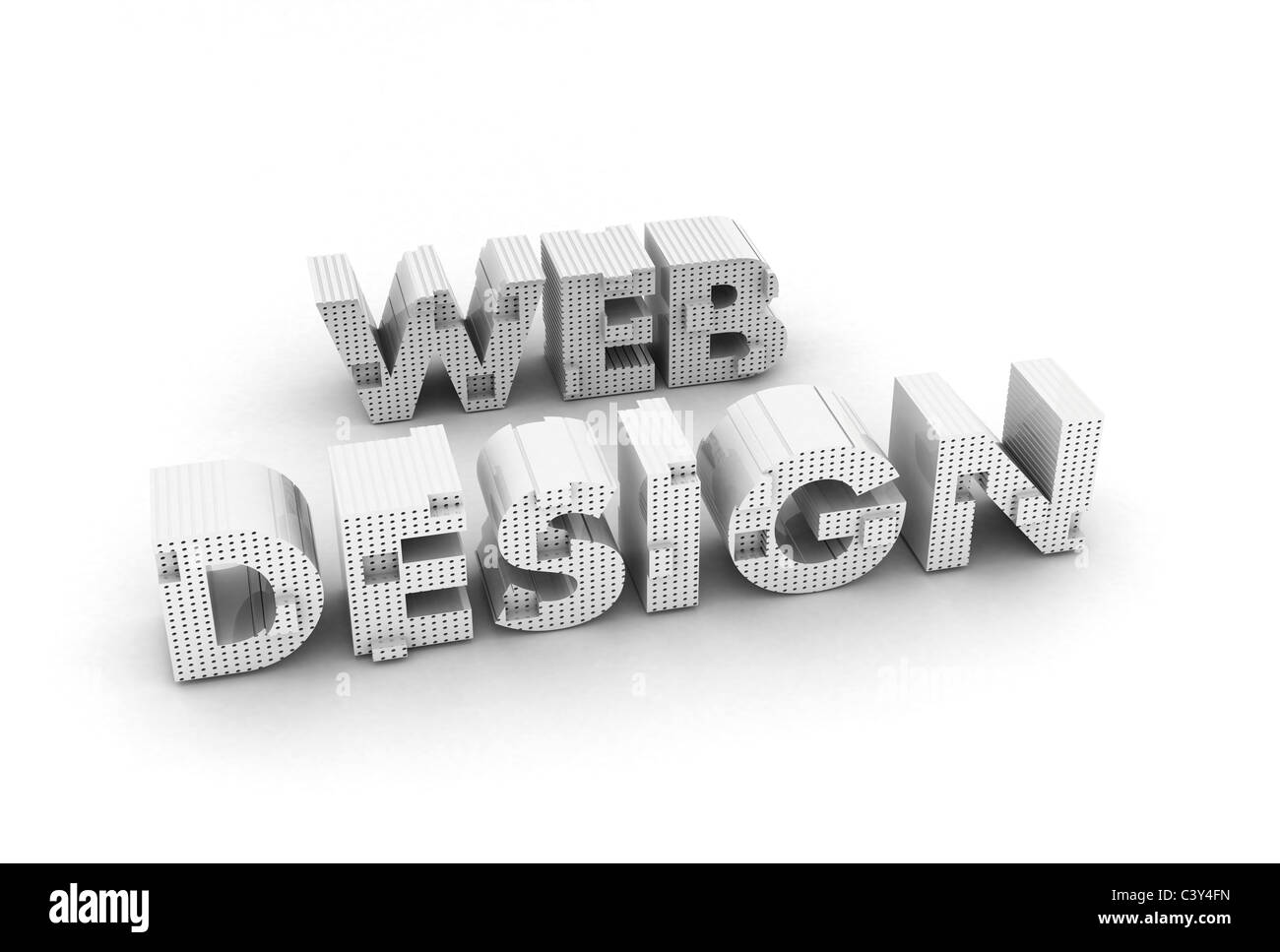 3d Web Design islated on white background Stock Photo, Royalty ...