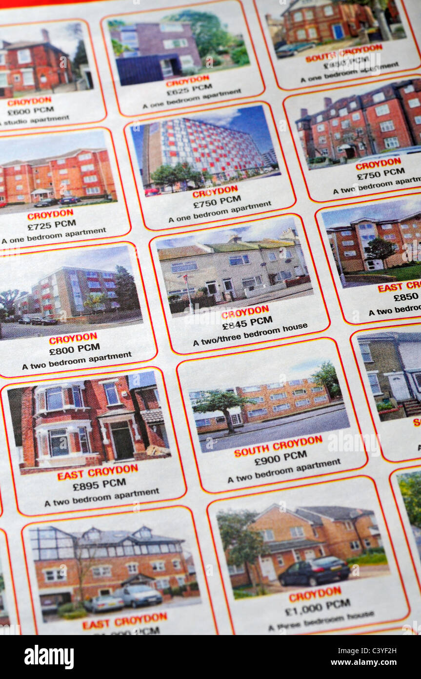 houses and apartments for rent in the property pages of a houses and apartments for rent in the property pages of a newspaper