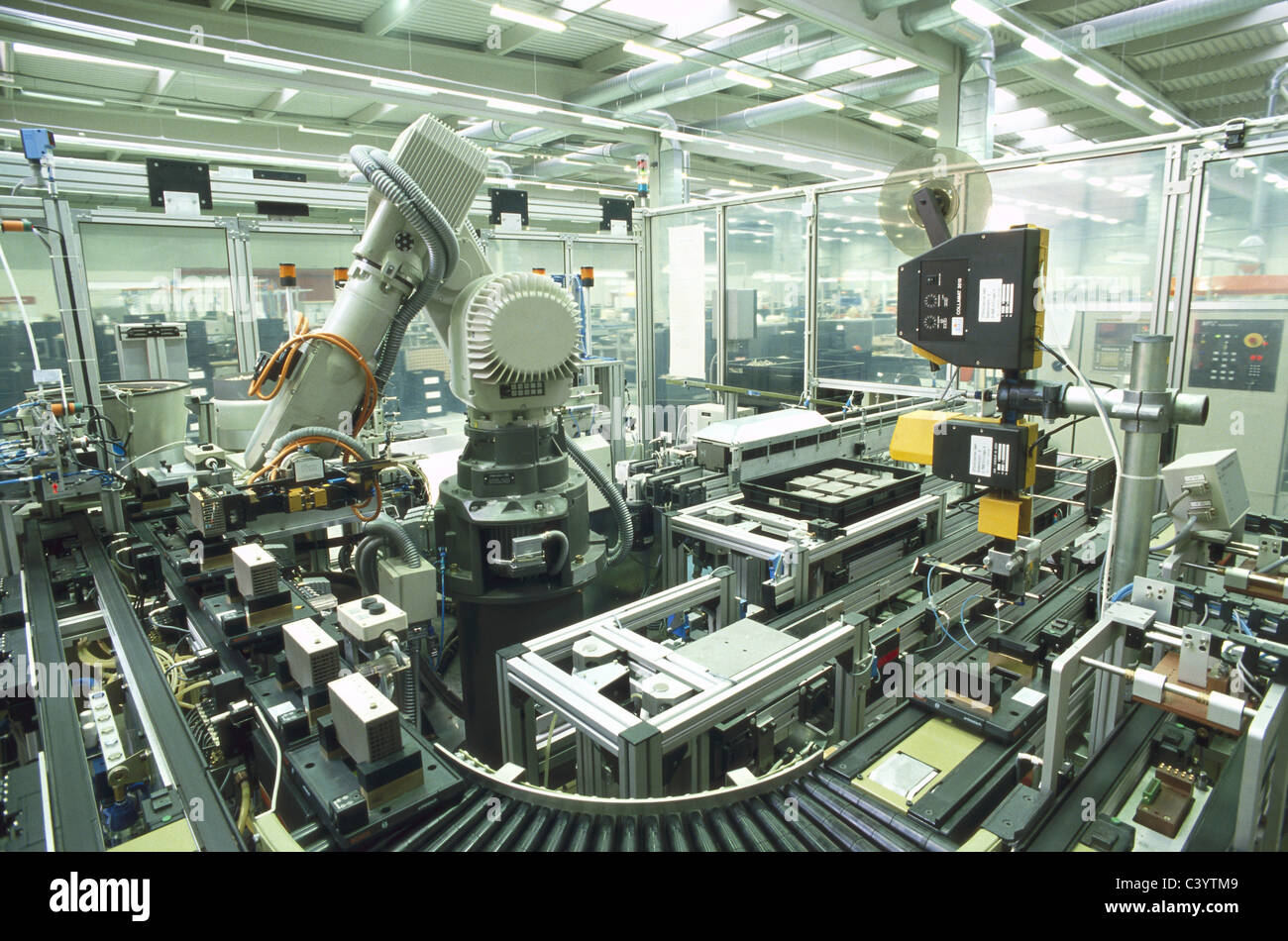 Modern Automated Assembly Line Cars Stock Photo 175334519 ...