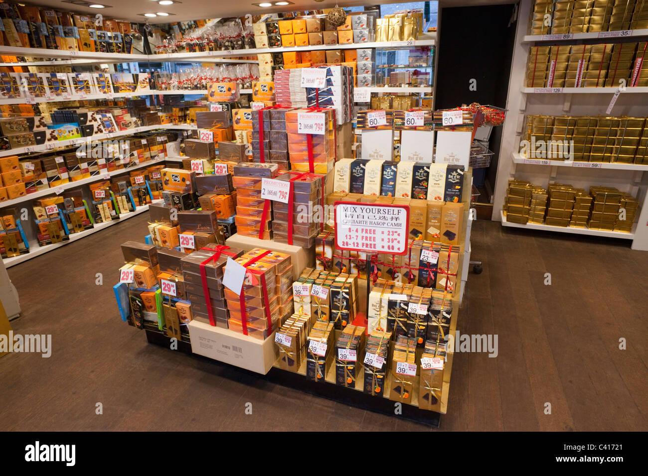 Europe, Belgium, Brussels, Bruxelles, Chocolate, Chocolates Stock ...