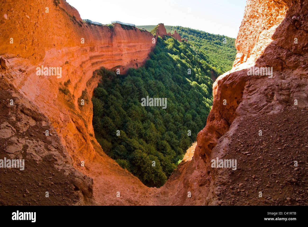 Las Médulas, Roman gold mine one of the UNESCO World Heritage Sites Stock Pho...