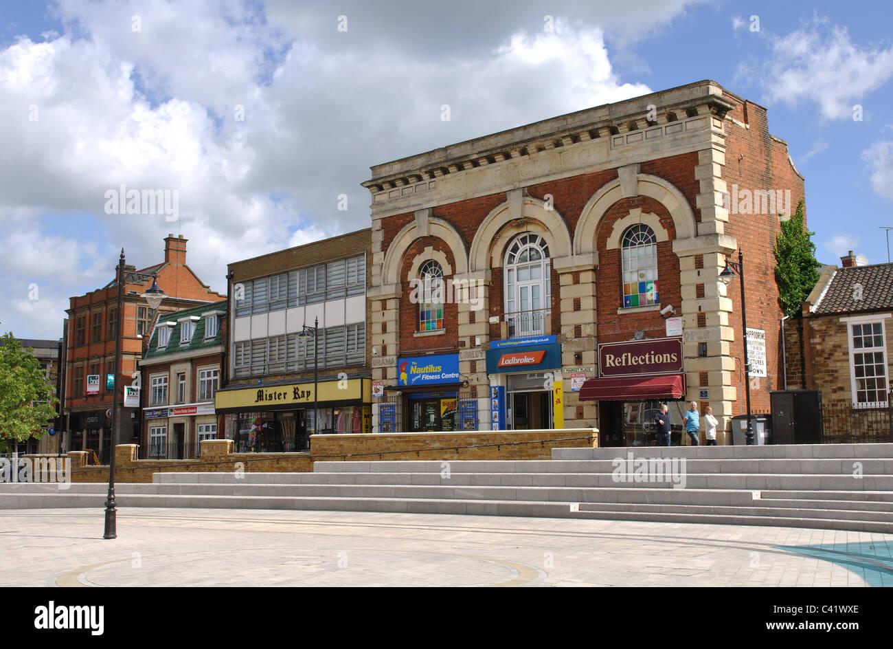 market place, kettering, northamptonshire, england, uk stock photo