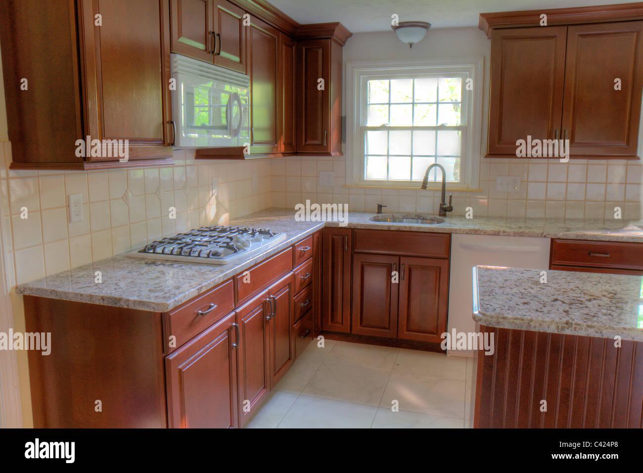 New Cherry Cabinets Granite Counter Tops And Ceramic