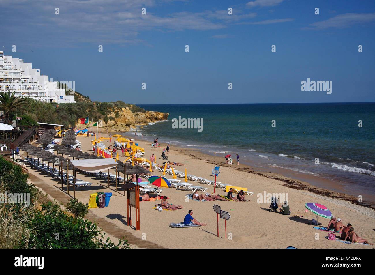 Beach resort view praia da oura faro district algarve region portugal