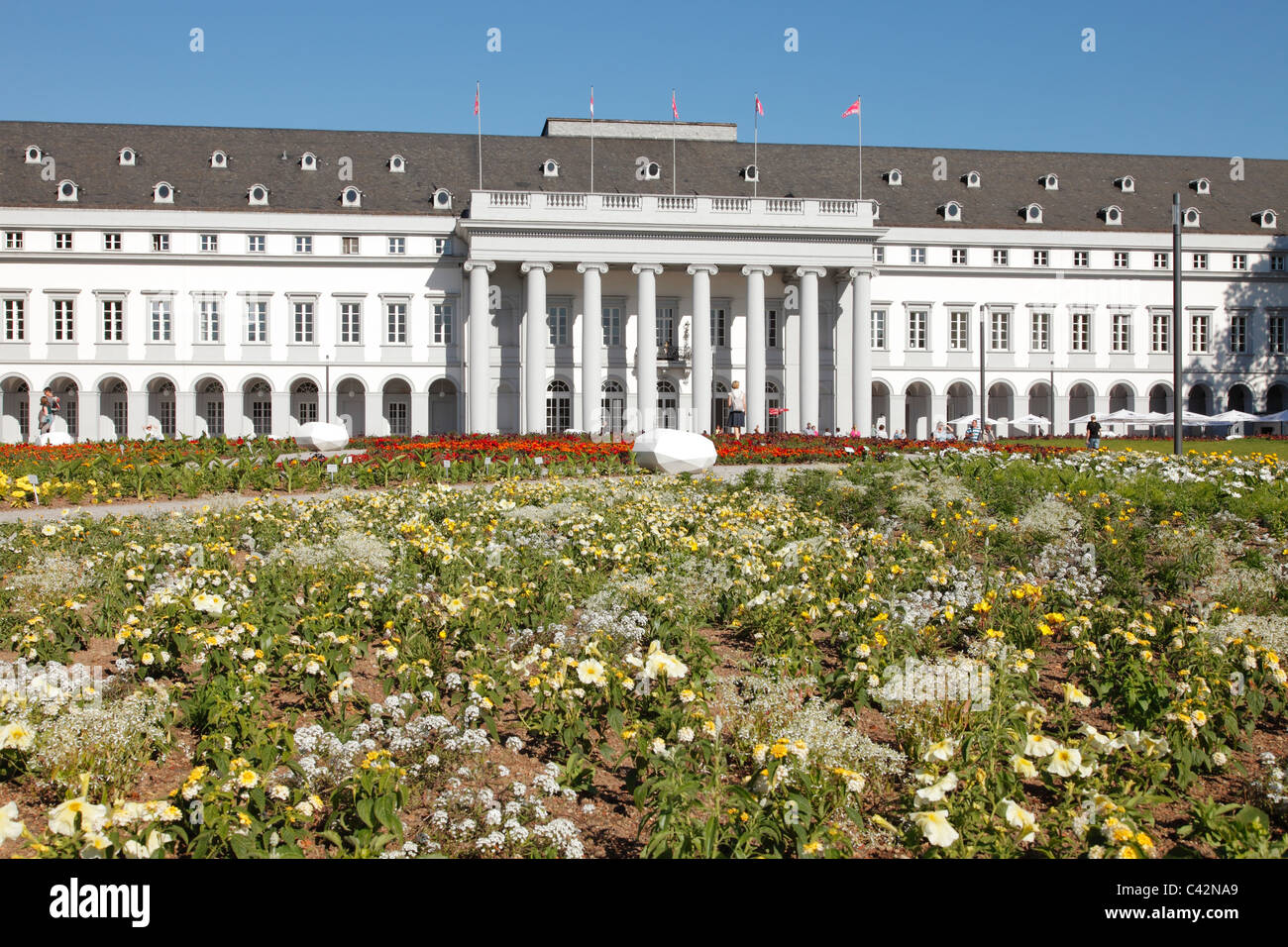 palace of the prince electors of trier in koblenz germany stock photo royalty free image. Black Bedroom Furniture Sets. Home Design Ideas
