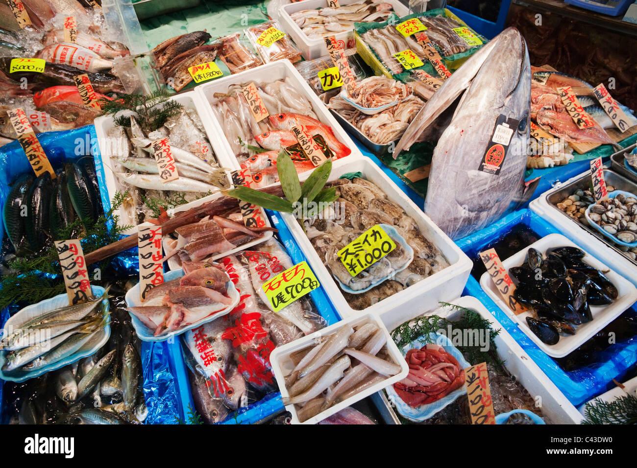 Asia japan honshu tokyo tsukiji fish market seafood for Japan fish market