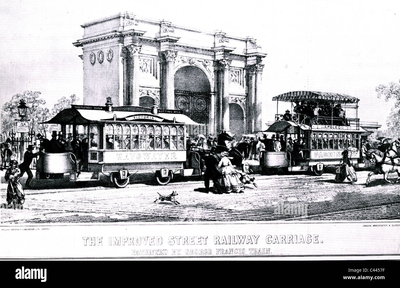 GEORGE FRANCIS TRAIN (1829-1904) US eccentric who designed ...