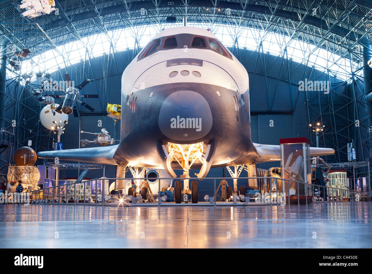 NASA Space Shuttle Enterprise At Steven F UdvarHazy Center Stock - Nasa museums in usa