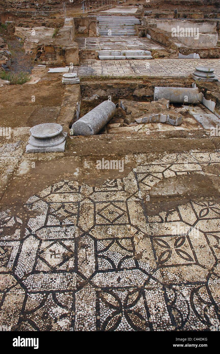 pisoes roman villa st to th century ad floor mosaic near beja el alentejo portugal