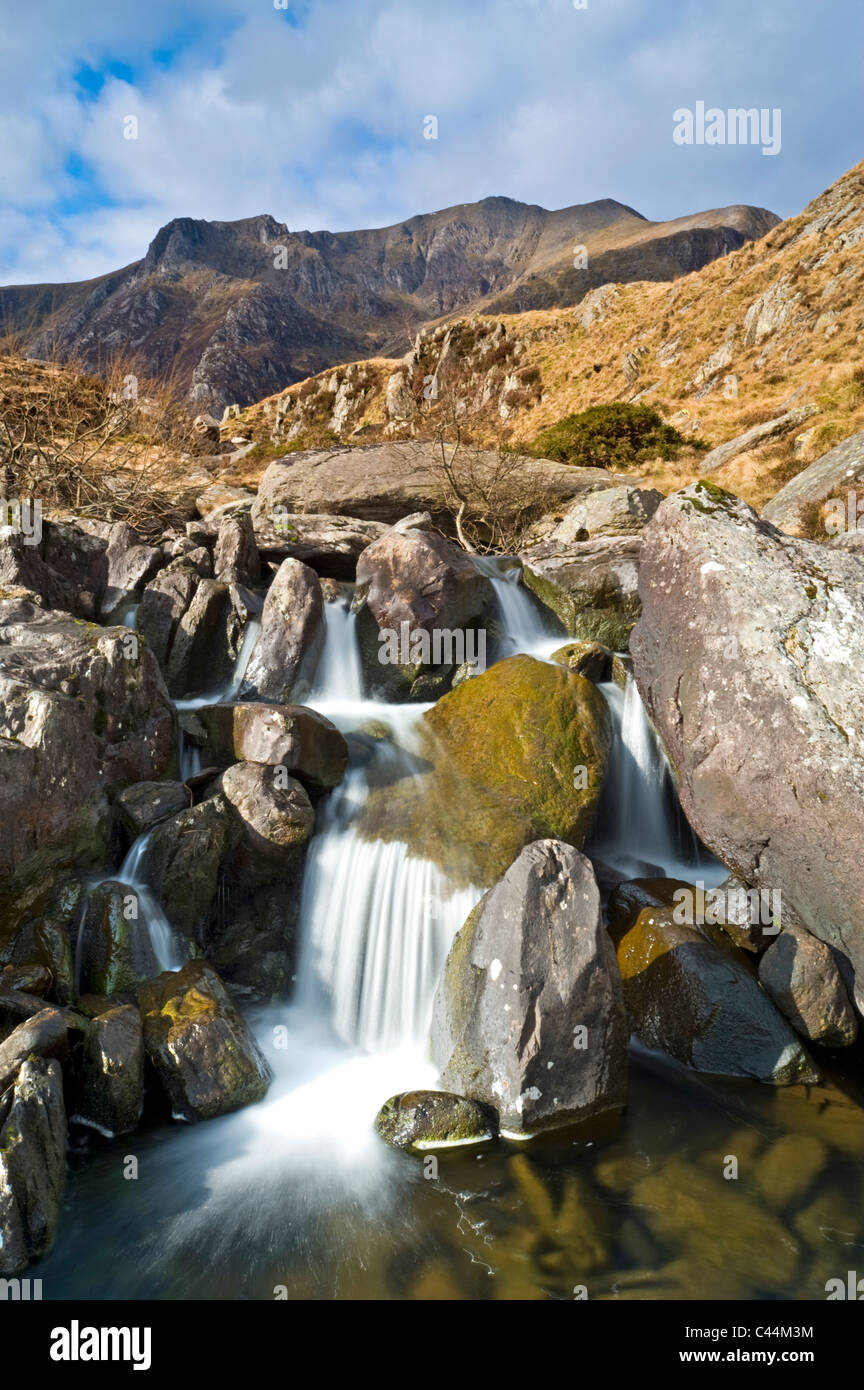 Afon Ogwen Backed By Cwm Idwal And The Devils Kitchen