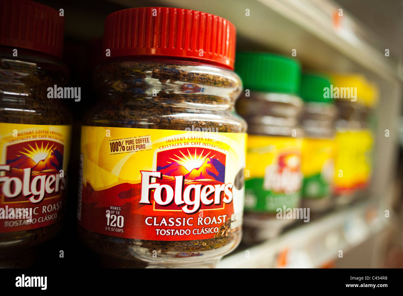 folgers coffee stock photos folgers coffee stock images alamy a display of folgers coffee on a supermarket shelf in new york stock image