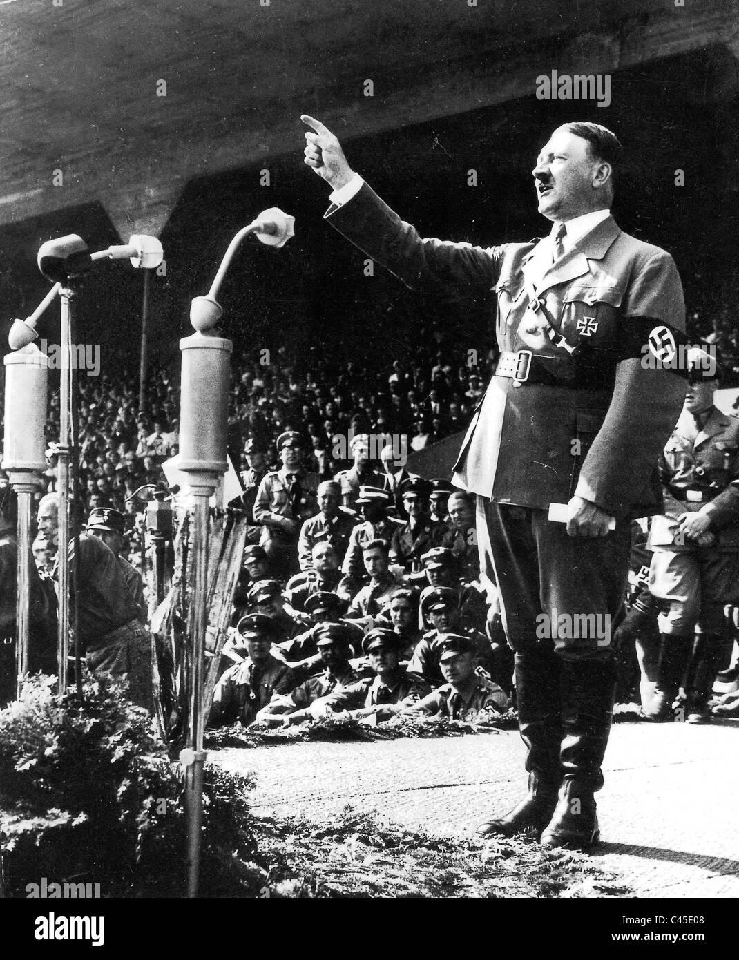 adolf hitler in a speech on the nazi party congress 1934