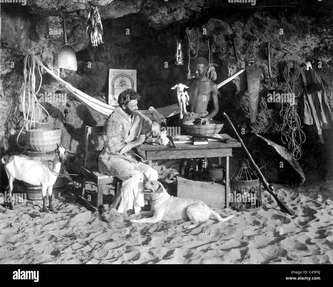Robinson Crusoe Film Scene Stock Photos  Robinson Crusoe Film