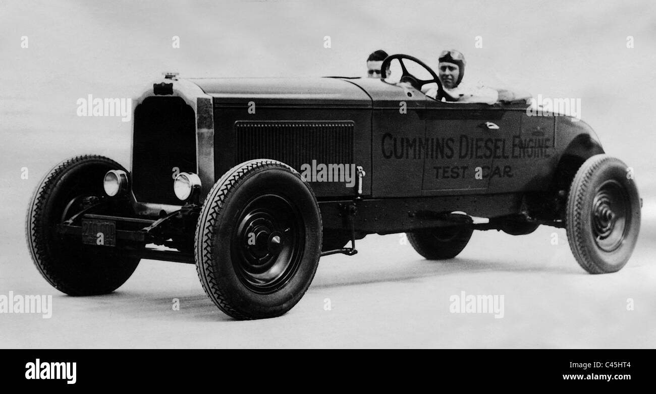 The first American race car with a diesel engine from CL Cummins ...