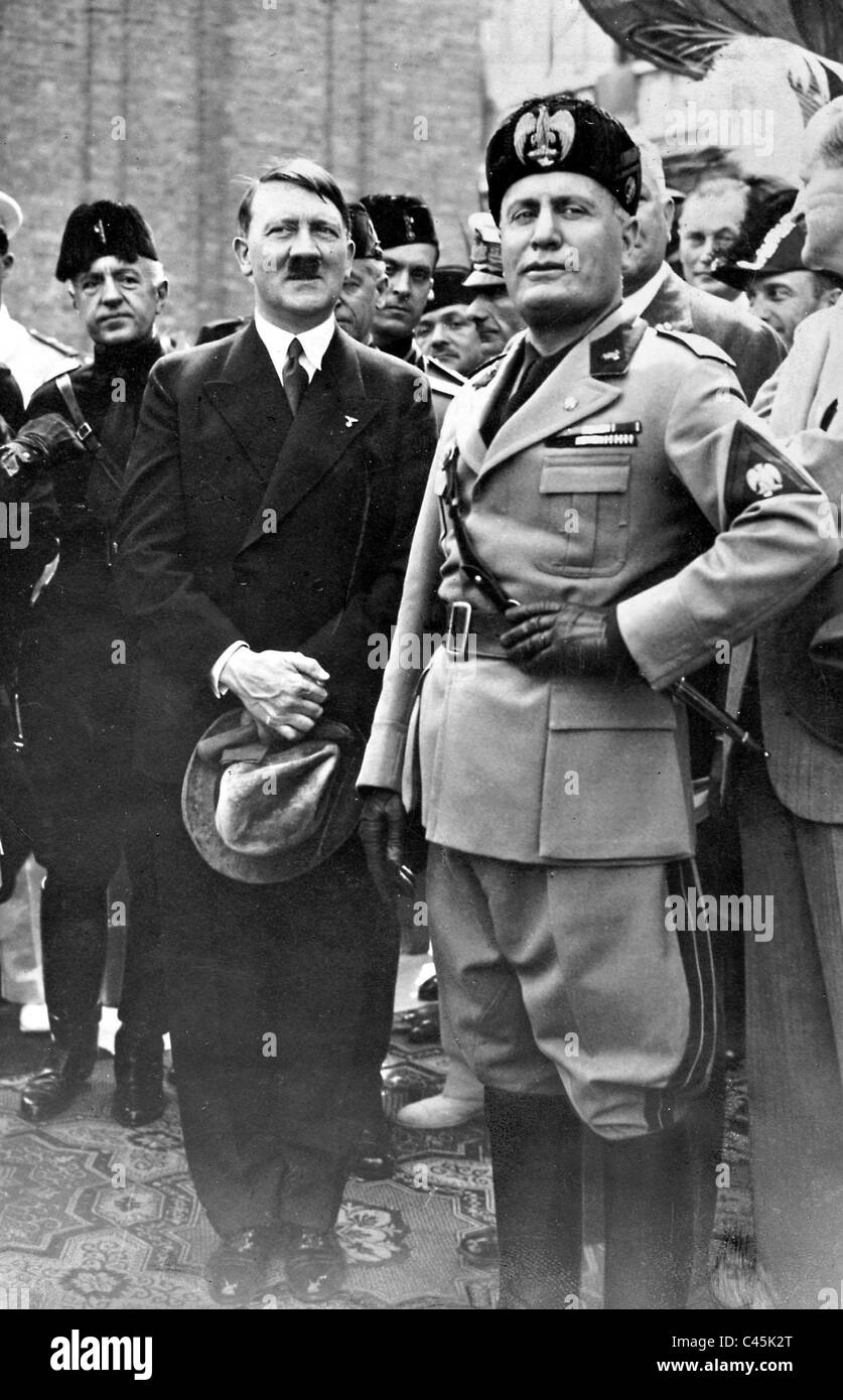 a comparison of adolf hitler and benito mussolinis lives Benito mussolini and adolf hitler both started out as unknown politicians but eventually climbed their way up to become dictators and sole rulers of their own countries they were dictators who came to power and changed everything drastically to shape the lives of their people.