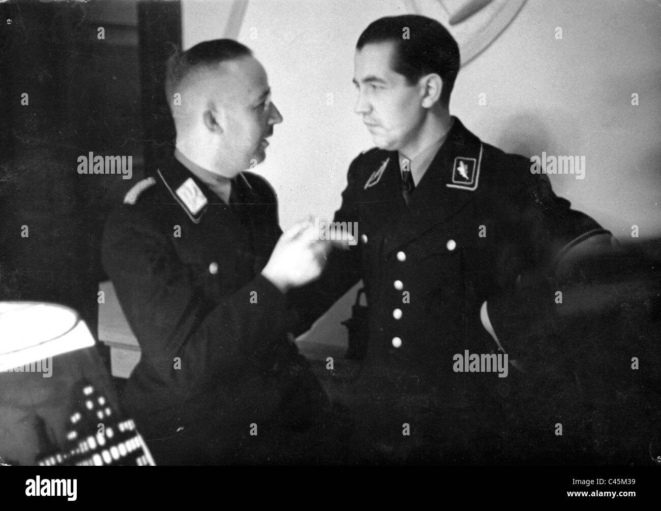 Heinrich Himmler with Rudolf Diels Stock Royalty