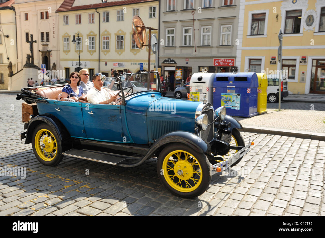Replica and vintage cars used to take tourists around the sights ...