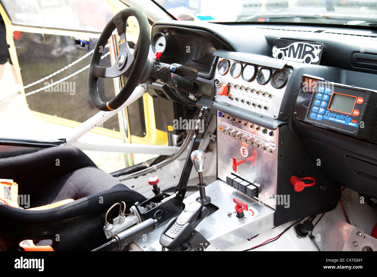 interior of a ford escort cosworth q plate rally stage car england uk stock photo royalty free. Black Bedroom Furniture Sets. Home Design Ideas