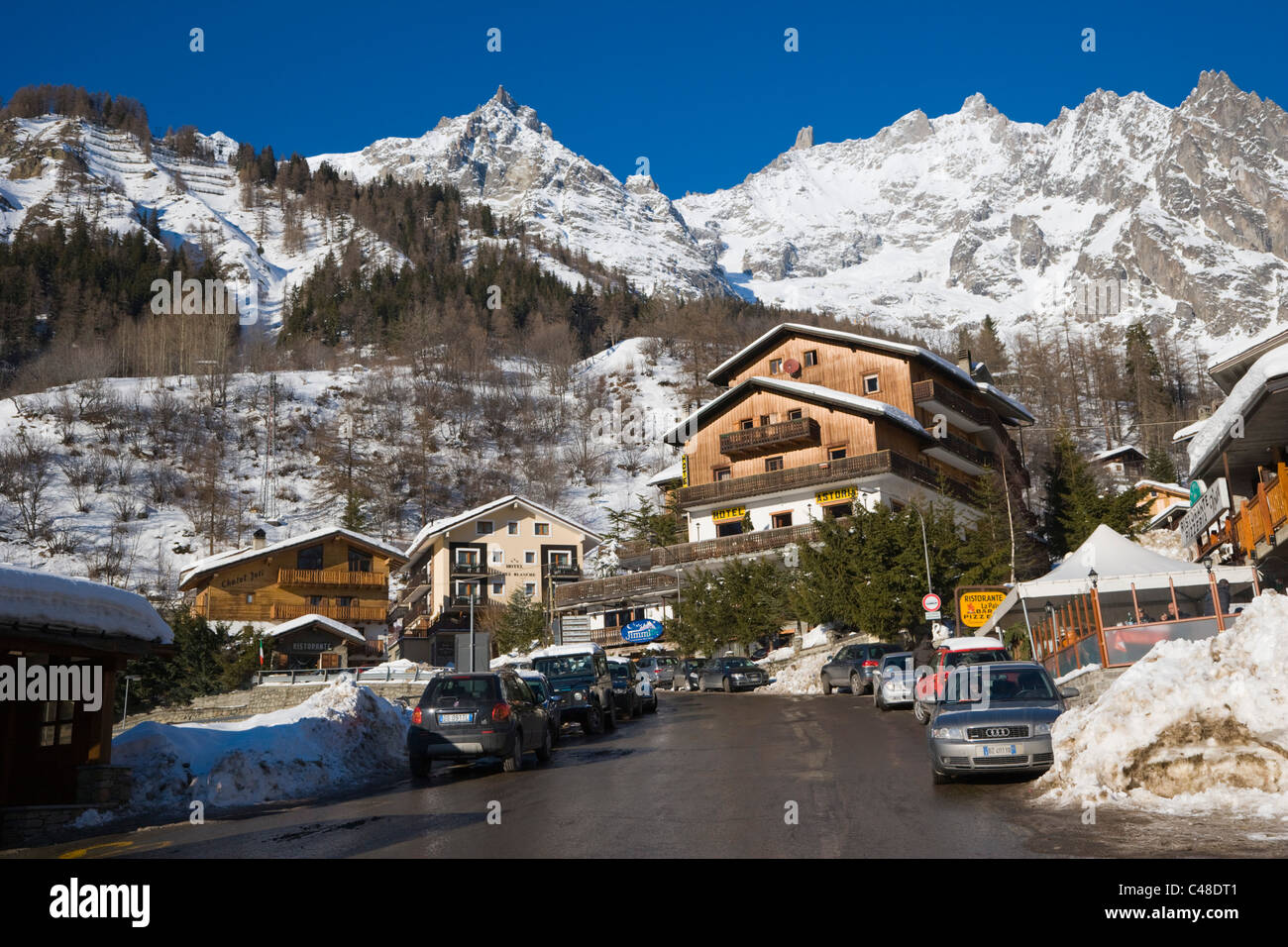 Mont Blanc Massif La Palud Courmayeur Aosta Valley