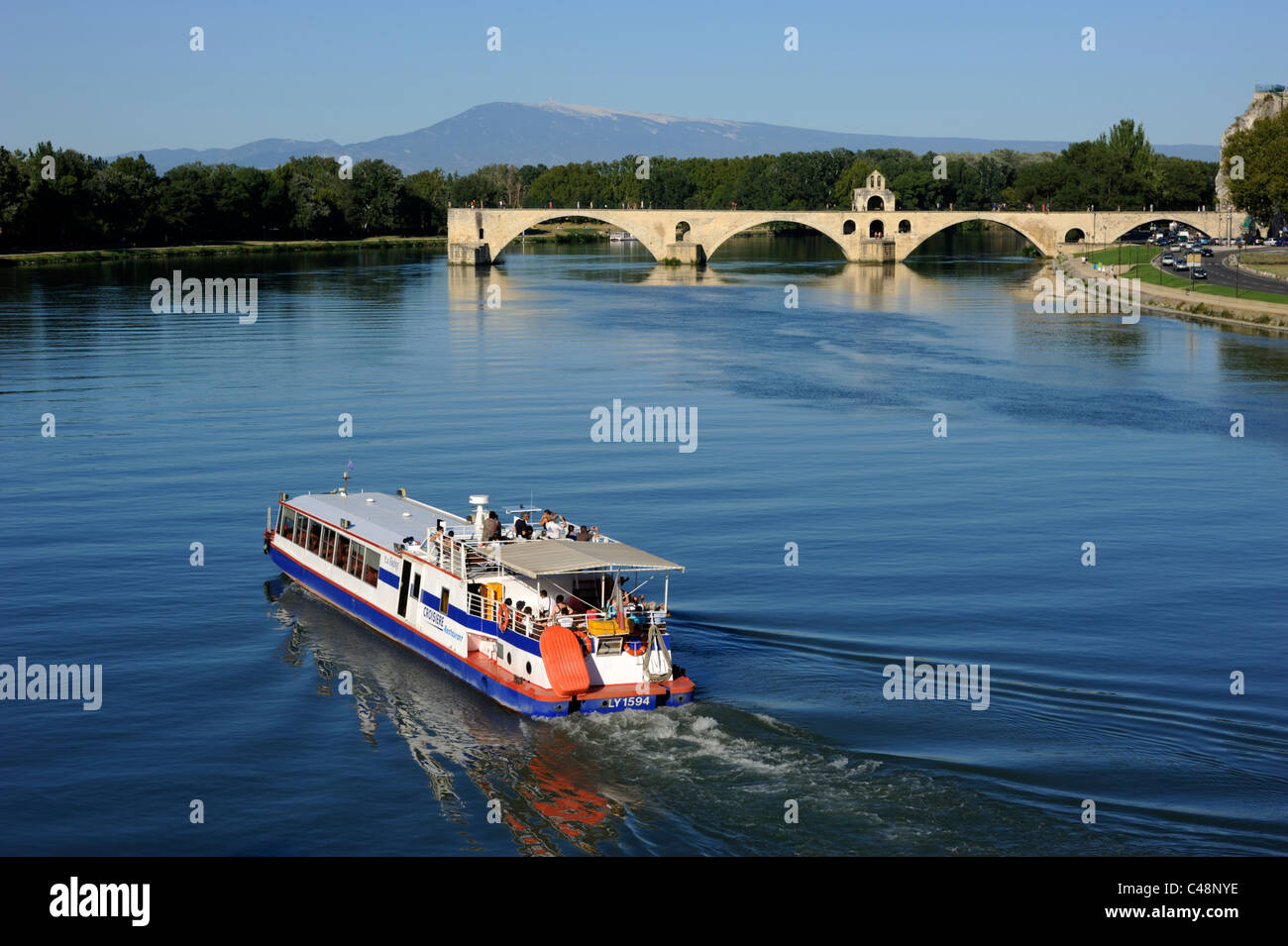 France Provence Avignon Rhone River River Cruise Boat And - France river cruise