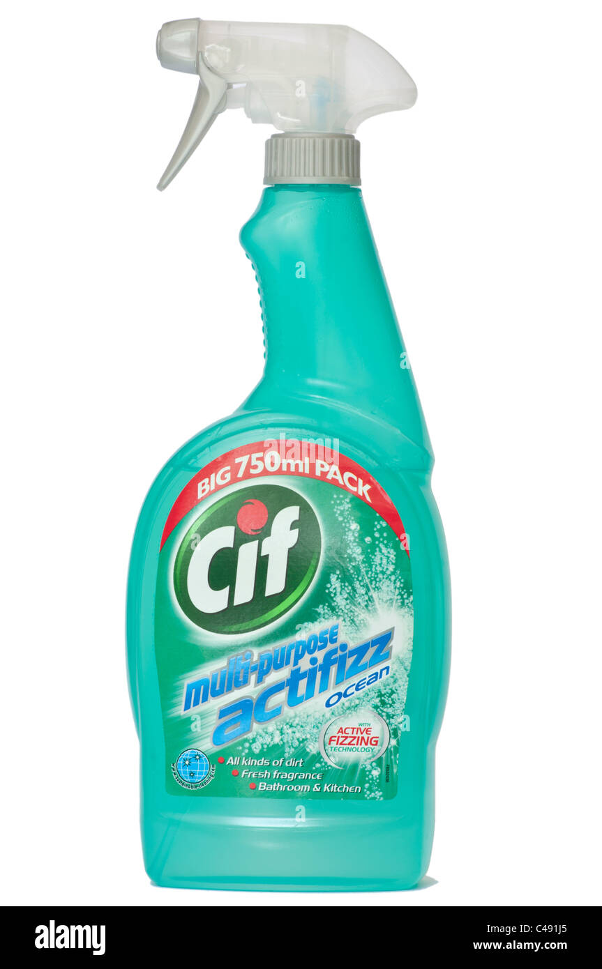 Bottle Of Cif Bathroom And Kitchen Cleaner