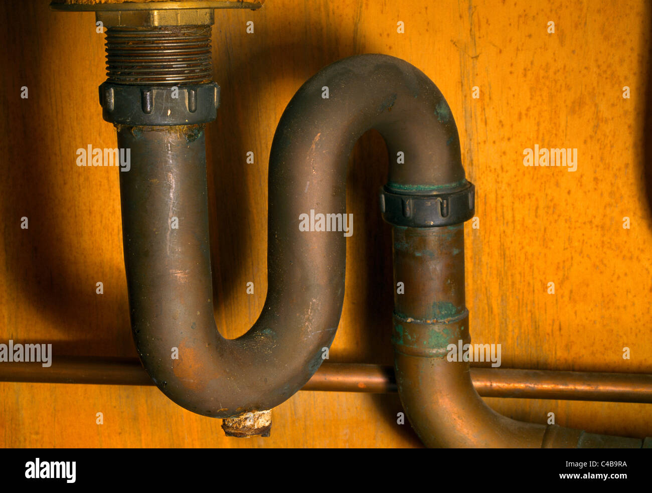 Stock Photo   U Bend Pipe Under Sink