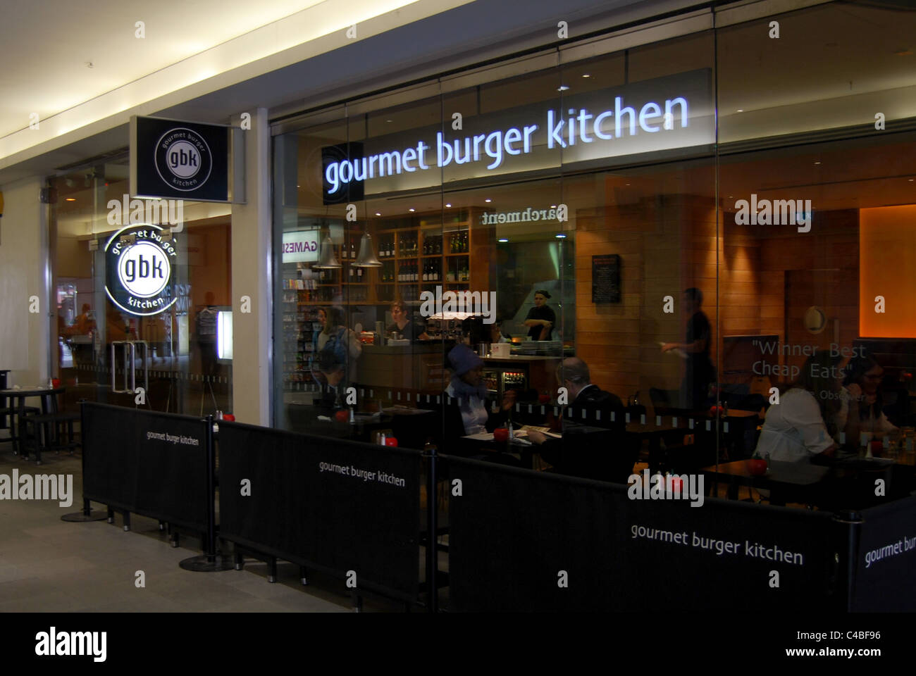 Restaurant Kitchen View a general view of the gourmet burger kitchen restaurant at the