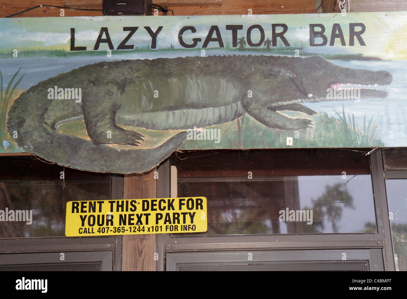 orlando florida oviedo lake jesup black hammock adventures lazy gator bar sign art alligator orlando florida oviedo lake jesup black hammock adventures lazy      rh   alamy
