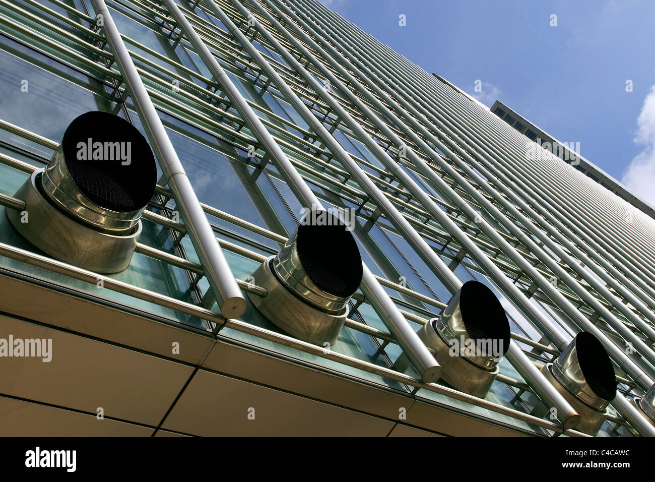 Exhaust Systems For Buildings ~ Exhaust ventilation system office building stock photo
